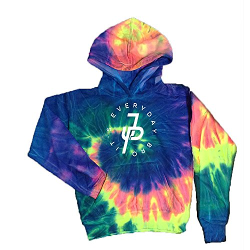 JasCouplesApparels Tie-Dye Kids Hoodie White Design Its Everyday Bro Tie Dye