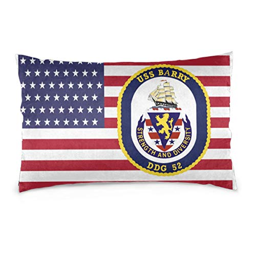 YUNPENGshentou USS Barry (DDG-52) 1 Pillow Case Decorative Pillowcases Pillow Covers (Barry Decorative Pillow)