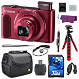 Canon PowerShot SX620 HS Digital Camera Bundle (Red) with 32GB Memory Card + Spider Tripod + Camera Case + Wrist Grip