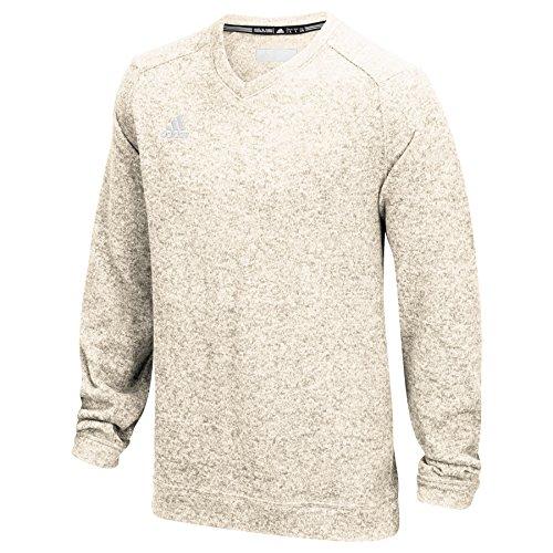 Adidas V-neck Sweater - adidas Modern Varsity Mens Sweater XL Oatmeal