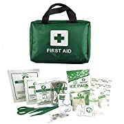 Home Treats First Aid Kit Bag. Essential For Home, Work, Sports, Office, Travel, Car, Camping.Includes Emergency Blanket…