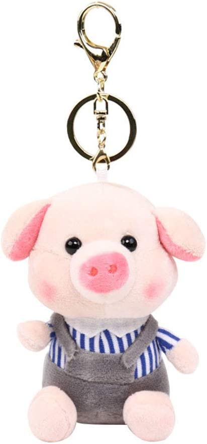 10cm Fragrance Pig Keychain Key Ring Holder Soft Plush Doll Bag Pendant Random