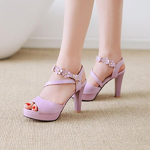 sandali con e tacco alto Scarpe alto donna tacco da alto sandali con YMFIE tacco con Violet q5wvA0W