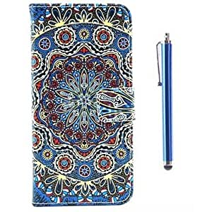 JJE Queen Lagerstroemia Pattern PU Leather Cove and Capacitance Pen with Stand for iPhone 6