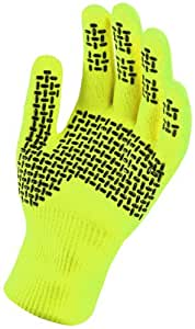 Sealskinz Hi Vis Ultra Grip Waterproof Gloves - Hi Vis Yellow - Medium