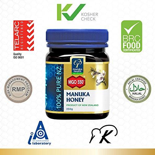 Manuka Health - MGO 550+ Manuka Honey, 100% Pure New Zealand Honey, 8.8 oz (250 g) by Manuka Health (Image #8)