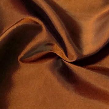 Kleider Deko Taft Stoff Meterware Kupfer-Orange changierend ...