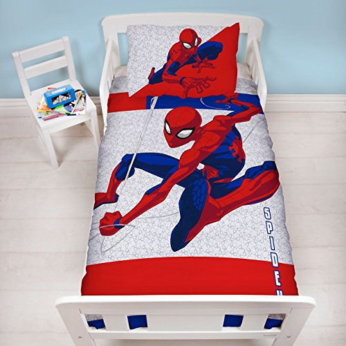 Spiderman Metropolis Junior Single Duvet (Spider Man Toddler Bedding)