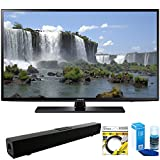 Samsung (UN55J6201) 55-inch 1080p 120Hz Full HD LED Smart HDTV with Solo X3 Bluetooth Home Theater Sound Bar + 6ft HDMI Cable + Universal Screen Cleaner for LED TVs