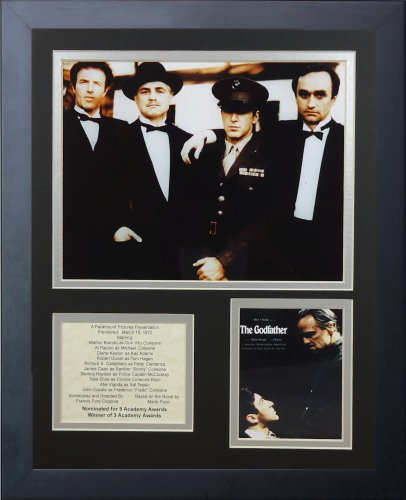 Framed Scarface Movie Poster - Legends Never Die The Godfather Framed Photo Collage, 11 by 14-Inch