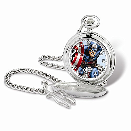 Marvel+Watches Products : Marvel Captain America Pocket Watch w/Chain