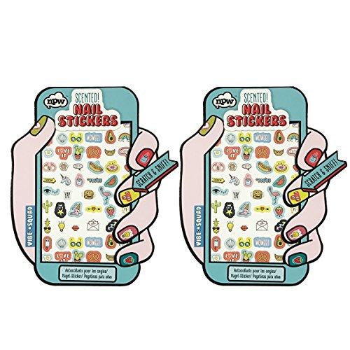 NPW Vibe Squad Nail Stickers Nail Art 3d Nail Decals Unicorn, Hotdog, Cactus Nail Stickers (60 stickers)