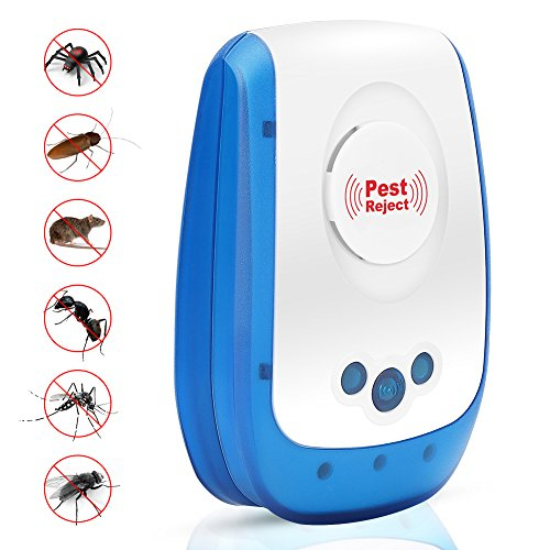 Pest Control Ultrasonic Pest Repellent, Electronic Mouse Repellent Plug in Pest Reject Repeller for Mice, Bugs, Spiders, Roaches, Flies, Ants- Human and Pet Safe