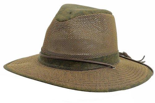 Henschel Hats Aussie Breezer 5310 Cotton Mesh Distress Gold Hat, X-Large ()