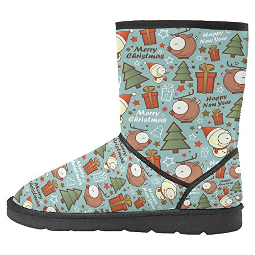 Cartoon Multi Comfort Boots Snowman Unique Christmas Designed Winter Deer 1 InterestPrint Boots Womens and Snow Pattern with X0wZ6qP