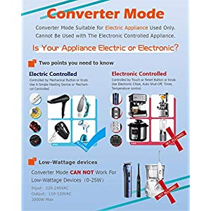 Hyted 2000Watts Travel Adapter and Converter | Step Down Voltage 220V to 110V for US to UK Europe AU Over 150 Countries