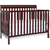 Dream On Me Alissa Convertible 5-in-1 Convertible Crib (New Cherry)