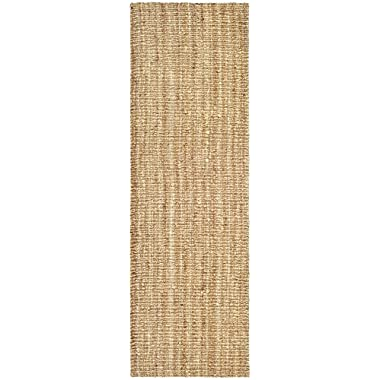 Safavieh Natural Fiber Collection NF447A Hand Woven Natural Jute Runner, 2 feet 6 inches by 8 feet (2'6  x 8')
