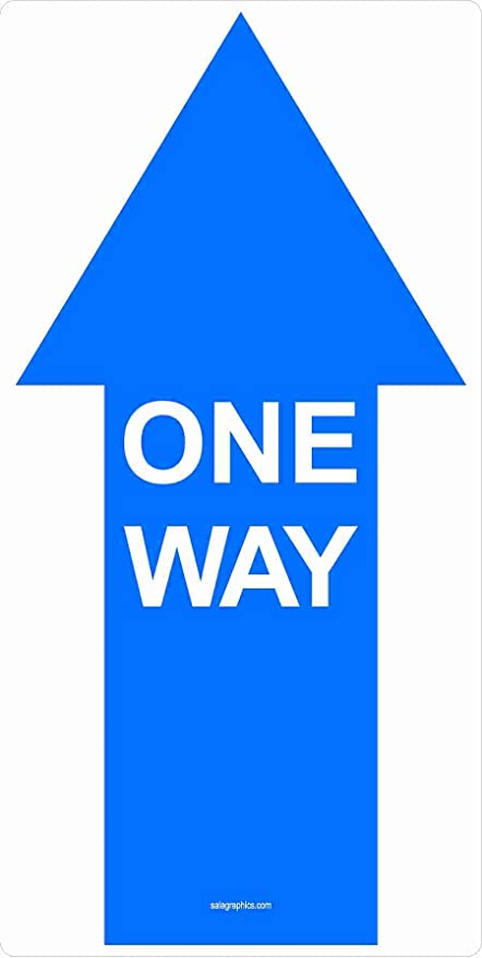 Work Place /& Customers /Made in The USA Coronavirus One Way Arrow 2 Cart Distance Non-Slip Floor Graphic 12 Pack of 16 Vinyl Decal Protect Your Business