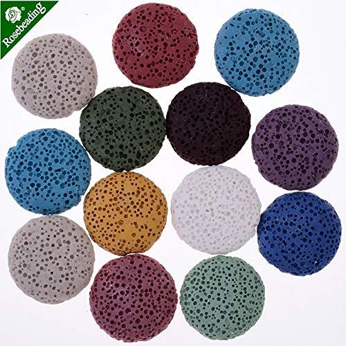 Calvas Lava Stone,Lava Beads,Ethnic Earrings Accessories,20mm Colour Mixture Lava Bead Studs,Sold 10pcs/lot