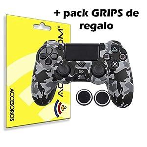 actecom® Funda Carcasa + Grip Silicona Camuflaje Gris Mando Sony PS4 Playstation 4 51Tv0qgcPbL