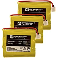 Synergy Digital Cordless Phone Batteries - Replacement for V Tech 80-5071-00-00 Cordless Phone Battery (Set of 3)