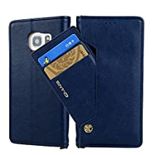 Businda Luxury Vintage Samsung S9 Plus Case with Card Slots Dual Layer Design PU Leather with Auto Sleep/Wake Function Simple Stylish Phone Case for Men & Women