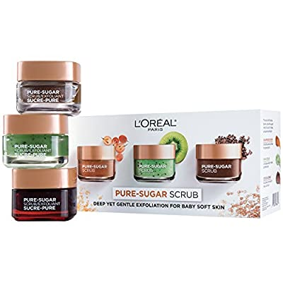 L'Oreal Paris Skin Care Pure Sugar Scrub Nourish & Soften, 1.7 Ounce