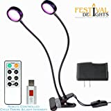 Cheap Grow Light – USB Timer with Remote Control, 18W Dual Head LED Lamp 360° Flexible Gooseneck with Clamp, 4 Modes of Lighting 2A Adaptor