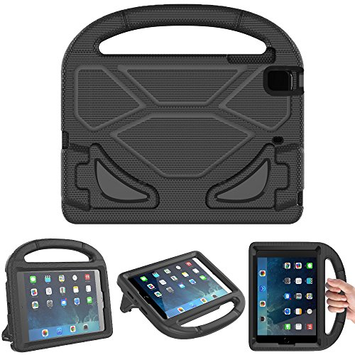 Cushion 4 Mini Piece Grip (eTopxizu Case for iPad Mini 1 2 3 4 5, Light Weight Shock Proof Handle Friendly Convertible Stand Kids Case for iPad Mini, iPad Mini 2, iPad Mini 3rd Generation, Mini 4, Mini 5 Tablet, Black)