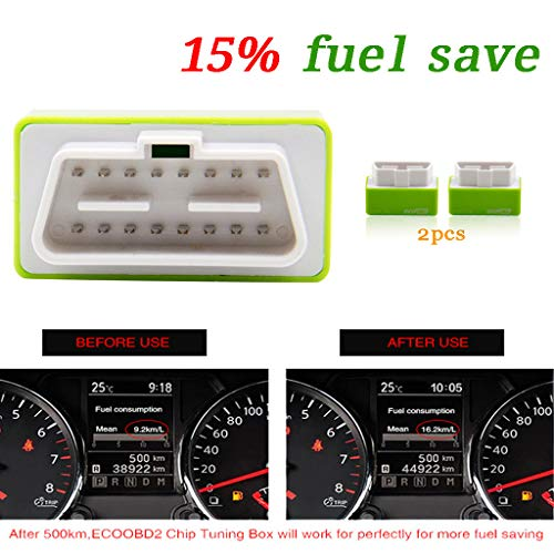 SMOXX 2 x Plug and Drive EcoOBD2 Fuel Saving Device New Best Tool Save 15% Fuel, Car Parts and Accessories Pro Premium Easy Install