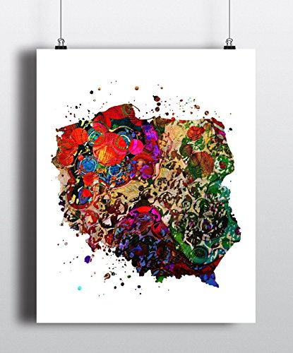 Poland Map Art Print, Poster, Wall Art, Contemporary Art, Modern Wall Decor, Office Decor ( UNFRAMED)