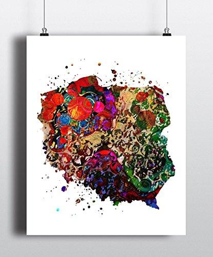 Poland Map Art Print, Poster, Wall Art, Contemporary Art, Modern Wall Decor, Office Decor ( UNFRAMED)