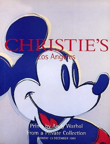 Warhol Mickey Mouse - Prints by Andy Warhol From a Private Collection, Christie's Los Angeles, December 13, 1999