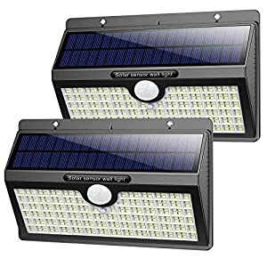 Pxwaxpy Solar Lights Outdoor 【286 LED & 2600 Lumen】 Upgraded Solar Motion Sensor Security Light with 3 Lighting Modes…