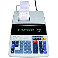 Sharp EL-1197PIII Heavy Duty Color Printing Calculator with Clock and Calendar