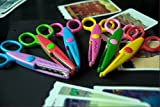 Paper Edging Scissors Art Creative Craft Scissors Kids Picture Photo Paper Safe Cutter for Decorative Gift Pack of 6