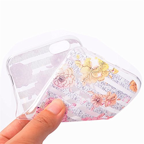 Bonice 3 x iPhone 7 Case TPU Custodia Morbida Trasparente Back Cover Custodie per Cellulare Scratch Bumper Caso Back Cover Telefono Cover Custodia Cover Alloggiamento Conchiglia Stella / Dreamcatcher  Modello 09