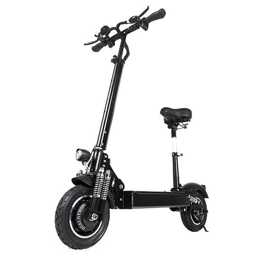 Scooter eléctrico de ultra alta velocidad 70km/h/43MPH y 80km/h/50 km de rango de conducción, motor sin escobillas 52V2000W y carga de 200 kg / 440 lb ...