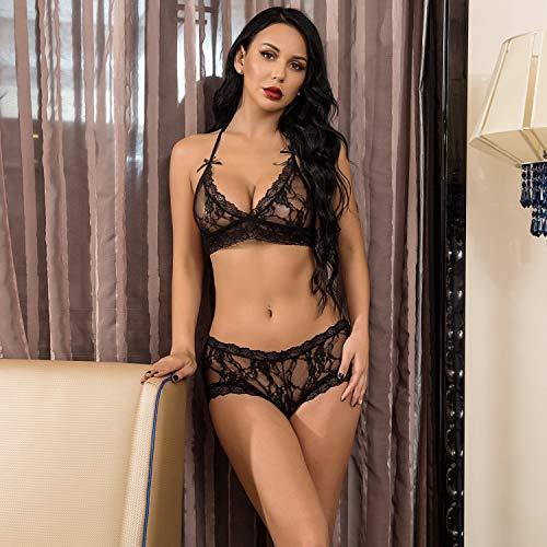 74ae785adb Avidlove Women 2 Piece Lingerie Sets Lace Babydoll Bralette Bra Panty Set