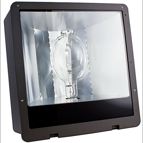 Intermatic ALF400PQL Outdoor, Metal Halide Area Light 400W w/Pulse Start Quad Tap-Dark Bronze ()