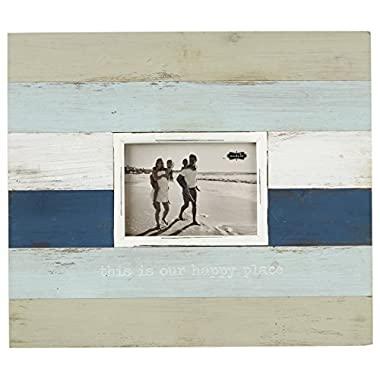Mud Pie Striped Beach Happy Place Frame, 4 x 6