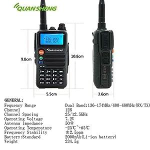 QUANSHENG TG-K2AT(UV) mini Xiao Jingang 5W Dual Band Two Way Radio 2 way radios walkie talkies long range speak out 2-way radio police scanner