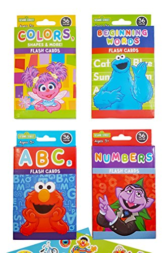 Sesame Street Educational Flash Cards for Early Learning. Set includes Colors, Shapes & More, ABCs, Numbers and Beginning ()