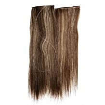 """Ty.Hermenlisa 14"""" Straight Flip in Natural Remy Human Hair Extensions Easy on Transparent Miracle Wire Halo Hairpiece, 1Pc, 60g, Piano Color Barcelona(#973.479)"""