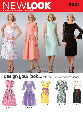 (New Look Sewing Pattern 6824 Misses Dresses, Size A (8-10-12-14-16-18))