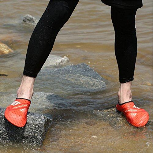 Lanma Barfota Snabbtorkande Vattensportskor Hud Aqua Strumpor För Simma Strand Pool Surf Yoga Män Kvinnor Barn Apelsin
