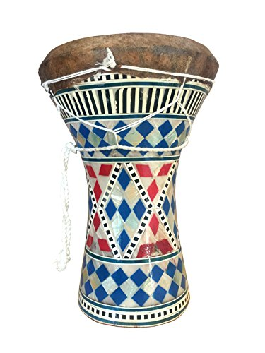 Mosaic Mother of Pearl Darbuka Drum Doumbek 8.5'' high by Jerusalem Drums