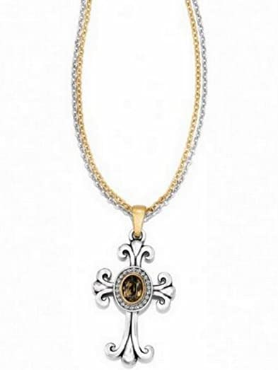 Amazon brighton lions eye reversible cross multi chain brighton lions eye reversible cross multi chain necklace silver gold mozeypictures Images