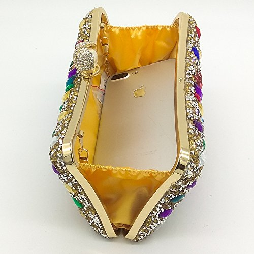 Strass Prom Gemstone Banquet Sac Soirée Gold Couleur De Dames Pochette À Party Main Efn4qxgwg